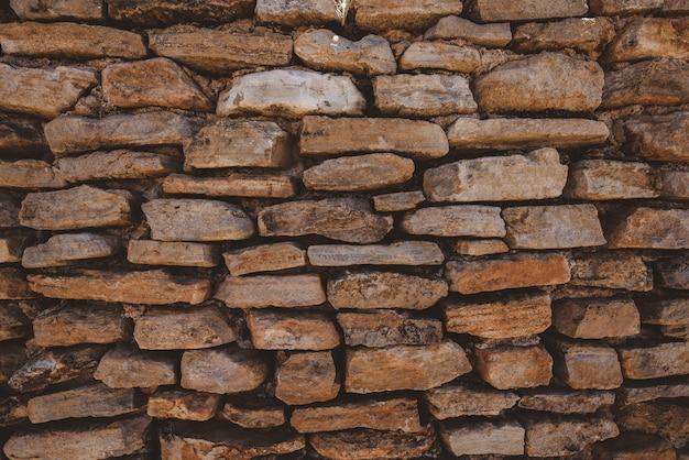 Closeup tiro de uma parede de tijolos
