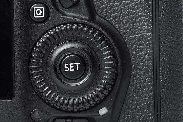 Closeup, vista, de, câmera digital