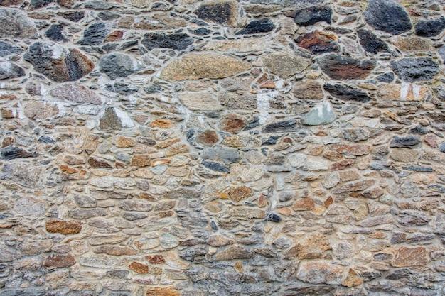Closeup vista na parede de tijolo medieval