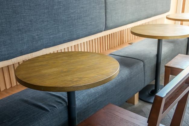 Closeup vista superior da mesa de café, mesa de jantar