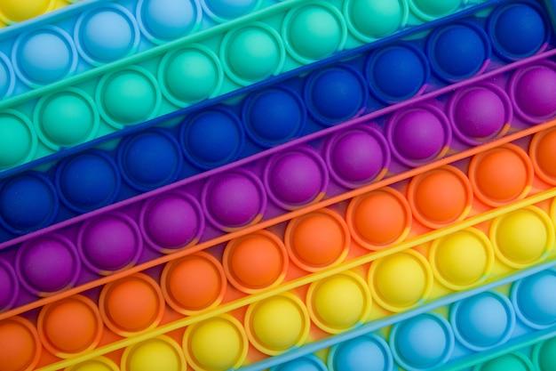Clus up coloridos brinquedos sensoriais antistress da moda fidget push pop it textura