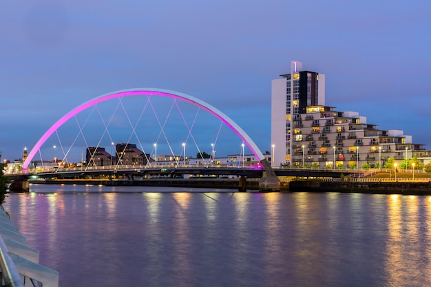 Clyde arc bridge glasgow