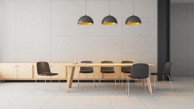 Co espaço de trabalho - interior moderno e loft / 3d rendering