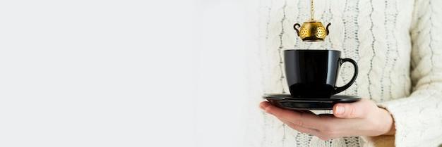 Coador de chá vintage