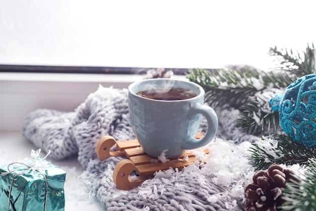 Cobertor com uma xícara de café