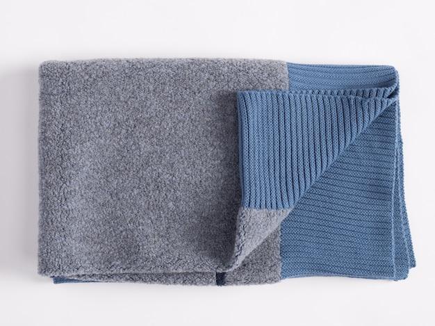Cobertor de lã de alpaca dobrado e macio com franja
