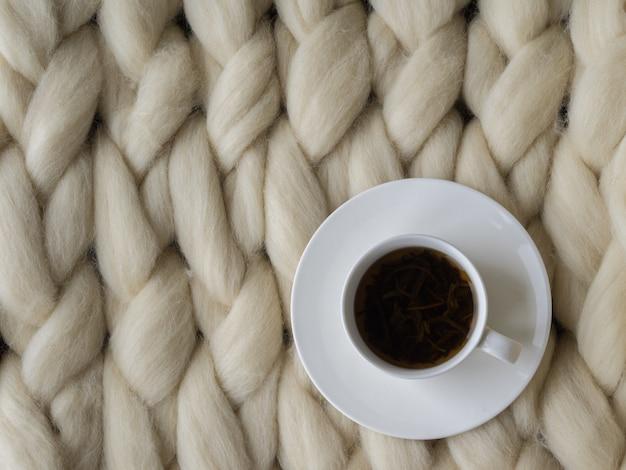 Cobertor de lã de merino closeup