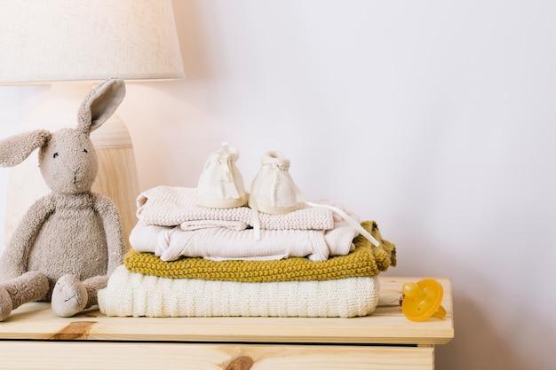 Cobertores quentes e brinquedos de pelúcia