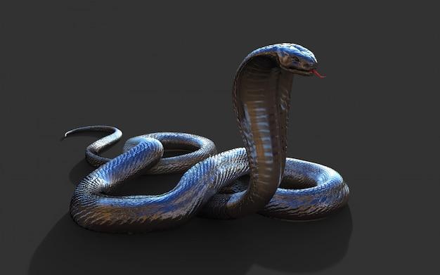 Cobra-rei 3d a maior cobra venenosa do mundo