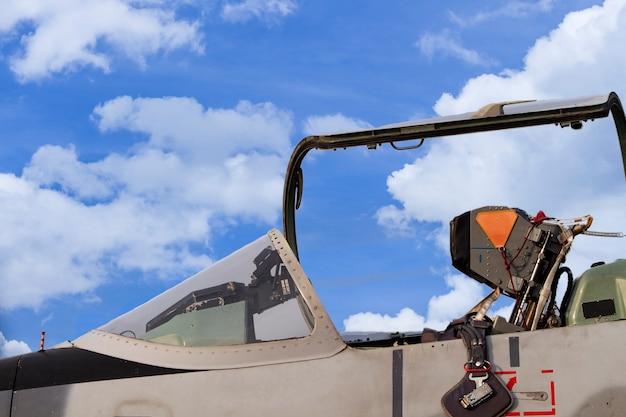Cockpit do avião de caça
