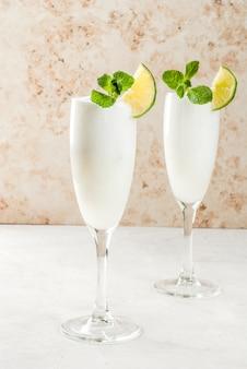 Cocktail alcoólico italiano sgroppino