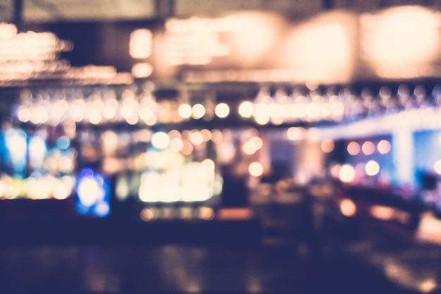 Cocktail bar desfocado