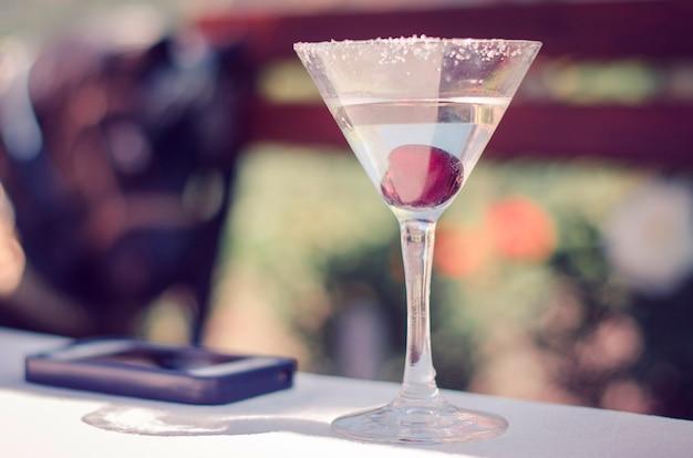 Cocktail de cereja de martini