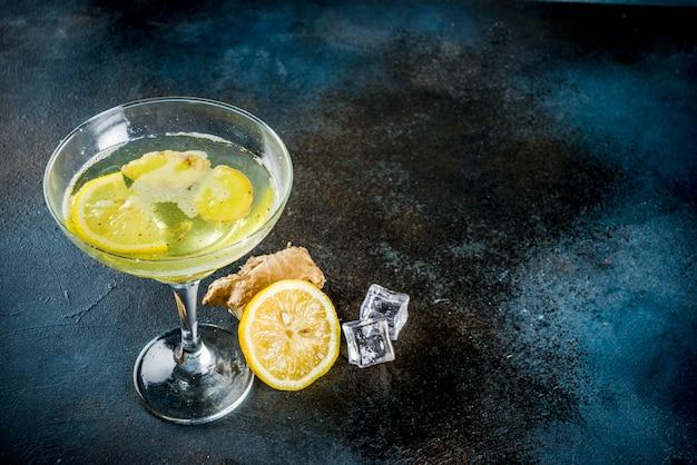 Cocktail de gingersnap de outono inverno