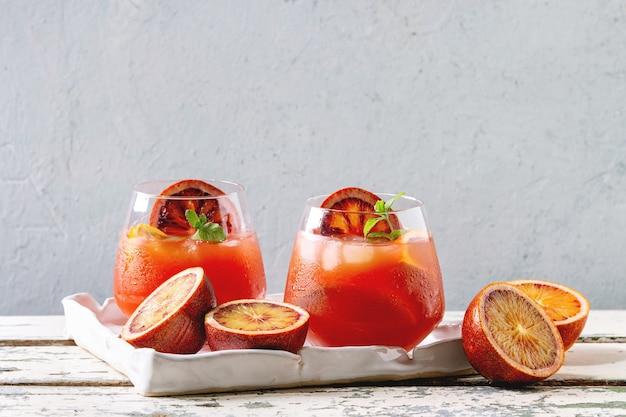 Cocktail de laranja de sangue