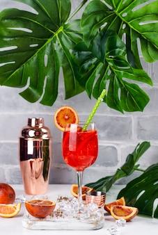Cocktail de sangria de verão