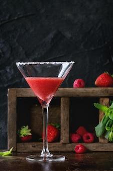 Cocktail de sobremesa de morango