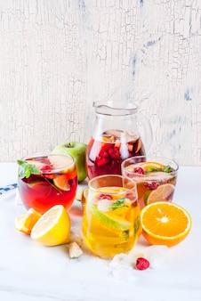 Cocktail frio de verão
