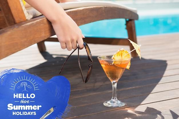 Cocktail mocktail comunicação de texto de água