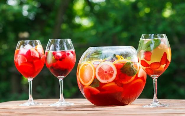 Cocktail não alcoólico fresco.