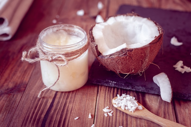 Coco e óleo de coco