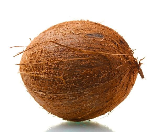 Coco isolado no branco