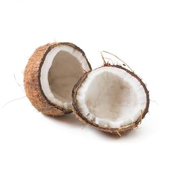 Coco isolado no fundo branco