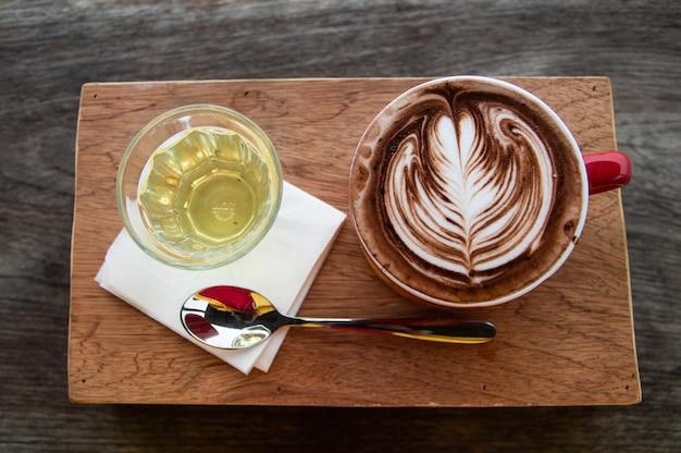 Cocoa art é uma imagem de folhas.