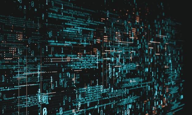 Codificação de software de computador com dados binários abstratos