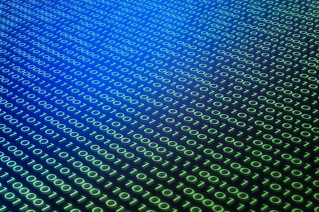 Código binário digital 01 fundo abstrato