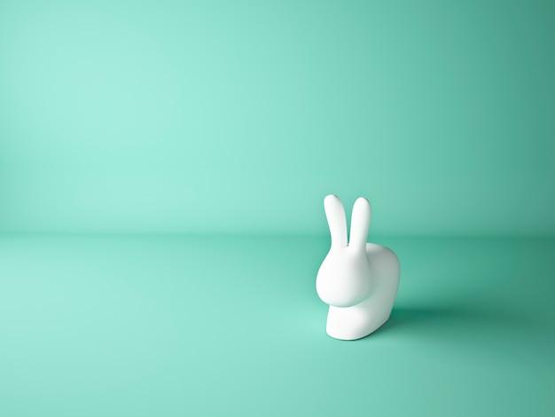Coelhinho da páscoa com fundo de hortelã