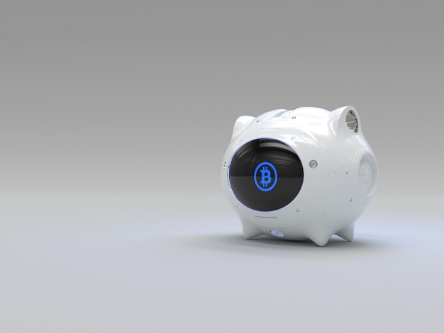 Cofrinho de dinheiro eletrônico para moeda digital