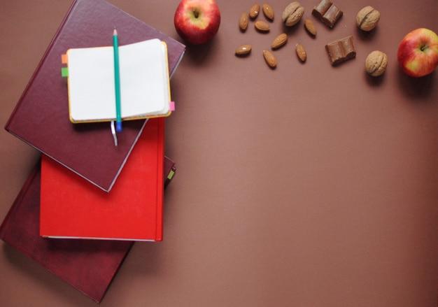 Coisas de estudo. fundo de educação. papelaria. aspectos da educação.