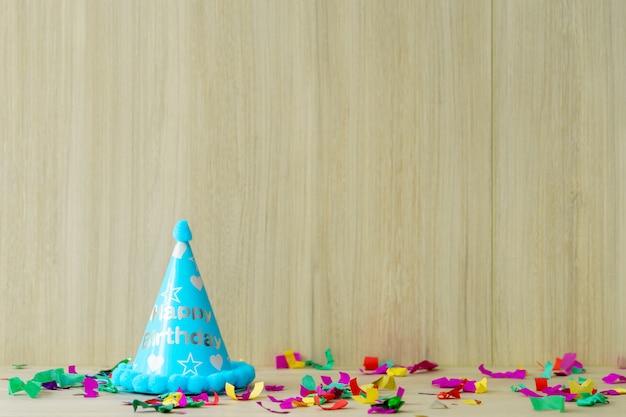 Coisas de festa de aniversário de criança configurar para espaço de cópia