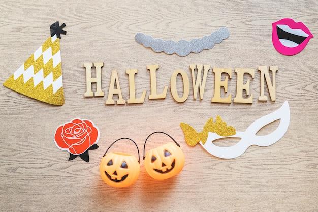 Coisas de halloween em torno de escrever