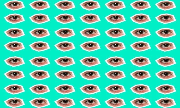 Colagem com coleção de olhos