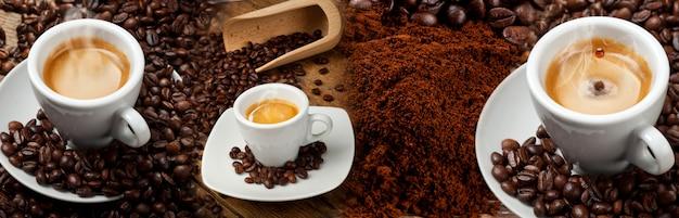 Colagem de banner de café