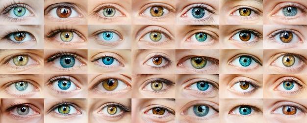 Colagem de olhos