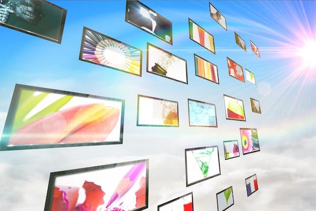 Colagem de tela mostrando imagens de estilo de vida