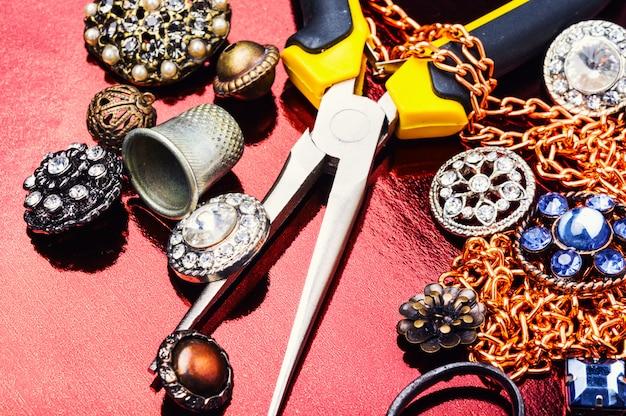 Colar de jóias de decoração