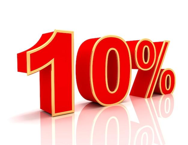 Coleção 3d com descontos em vermelho brilhante - 10 por cento