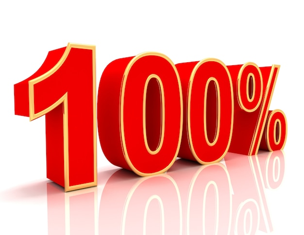 Coleção 3d com descontos em vermelho brilhante - 100 por cento