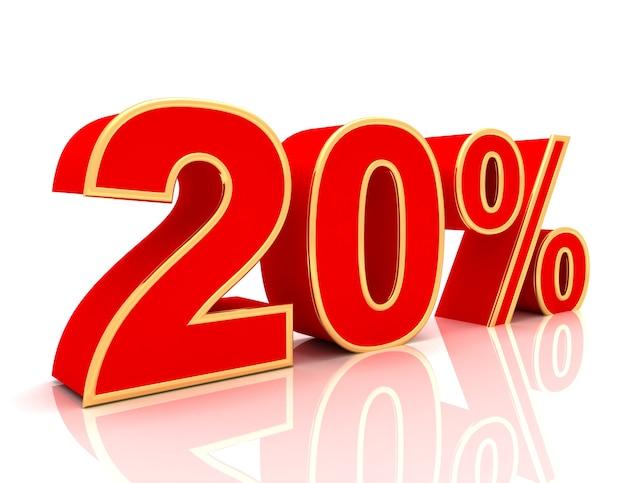 Coleção 3d com descontos em vermelho brilhante - 20 por cento
