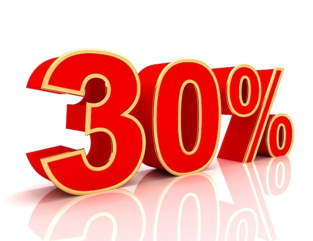 Coleção 3d com descontos em vermelho brilhante - 30 por cento