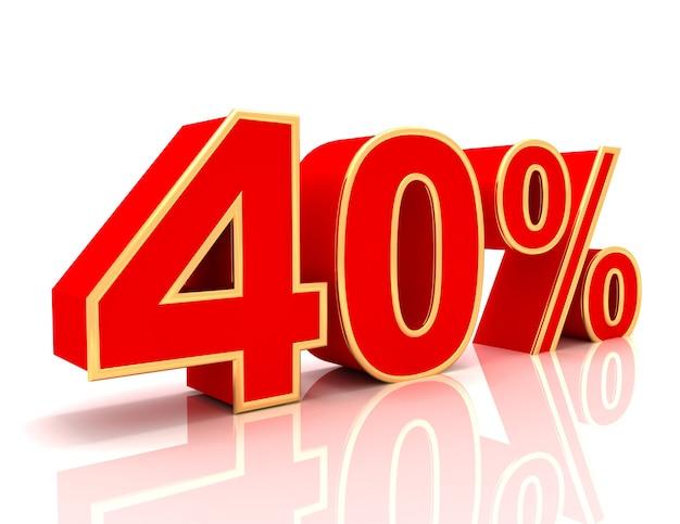 Coleção 3d com descontos em vermelho brilhante - 40 por cento