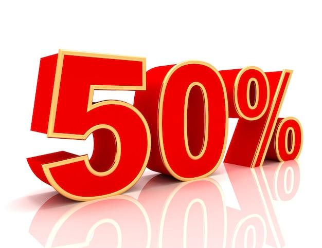 Coleção 3d com descontos em vermelho brilhante - 50 por cento
