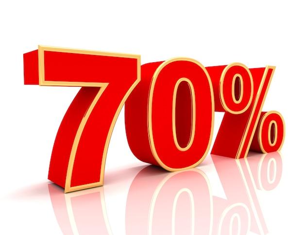 Coleção 3d com descontos em vermelho brilhante - 70 por cento