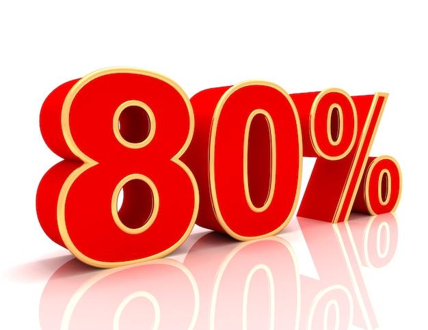 Coleção 3d com descontos em vermelho brilhante - 80 por cento