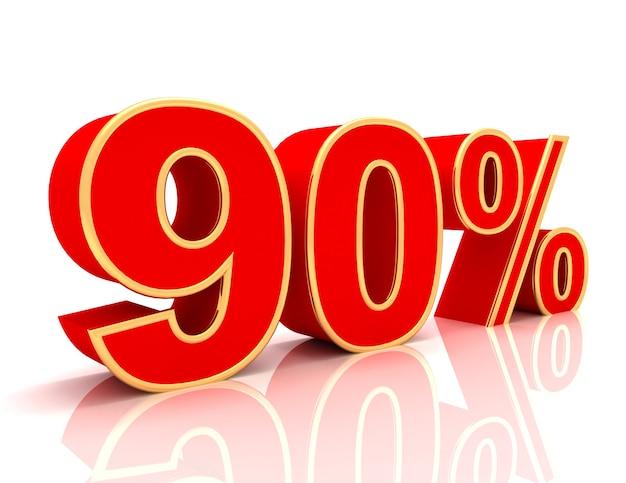 Coleção 3d com descontos em vermelho brilhante - 90 por cento