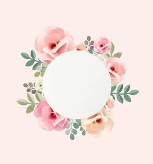 Coleção artesanal de artesanato de papel de rosas
